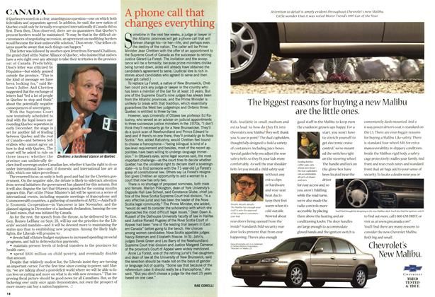 Article Preview: A phone call that changes everything, SEPTEMBER 8,1997 1997 | Maclean's