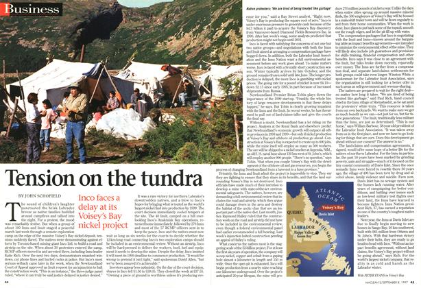 Article Preview: Tension on the tundra, SEPTEMBER 8,1997 1997 | Maclean's