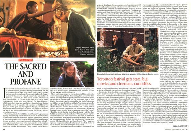 Article Preview: THE SACRED AND PROFANE, SEPTEMBER 8,1997 1997 | Maclean's