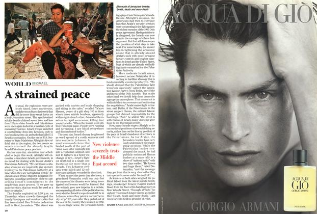 Article Preview: A strained peace, September 1997 | Maclean's