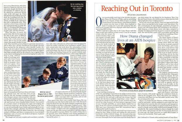 Article Preview: Reaching Out in Toronto, September 1997 | Maclean's