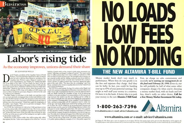 Article Preview: Labor's rising tide, September 1997 | Maclean's