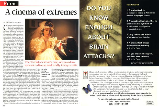 Article Preview: A cinema of extremes, September 1997 | Maclean's