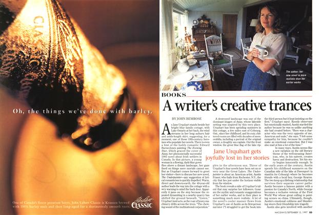 Article Preview: A writer's creative trances, September 1997 | Maclean's