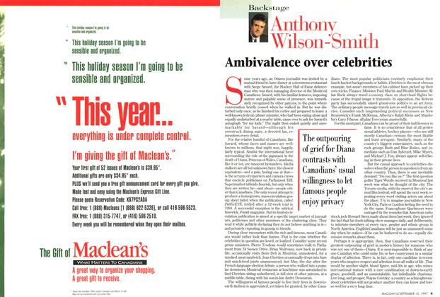 Article Preview: Ambivalence over celebrities, September 1997 | Maclean's