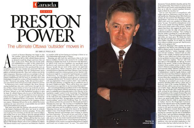 Article Preview: PRESTON POWER, September 1997 | Maclean's