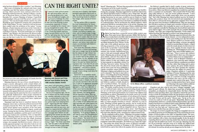 Article Preview: CAN THE RIGHT UNITE?, September 1997 | Maclean's