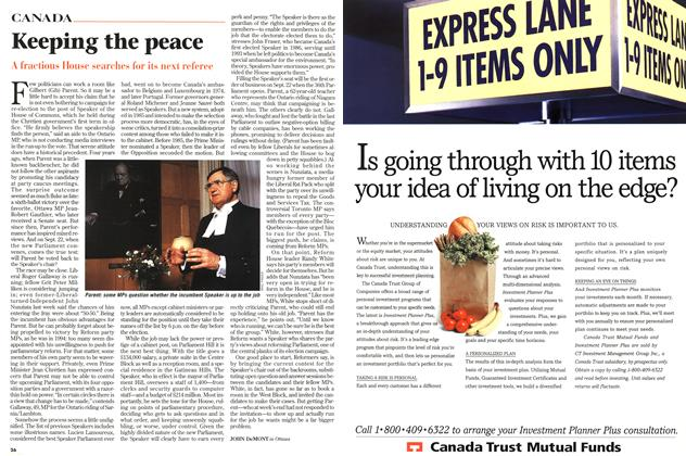 Article Preview: Keeping the peace, September 1997   Maclean's