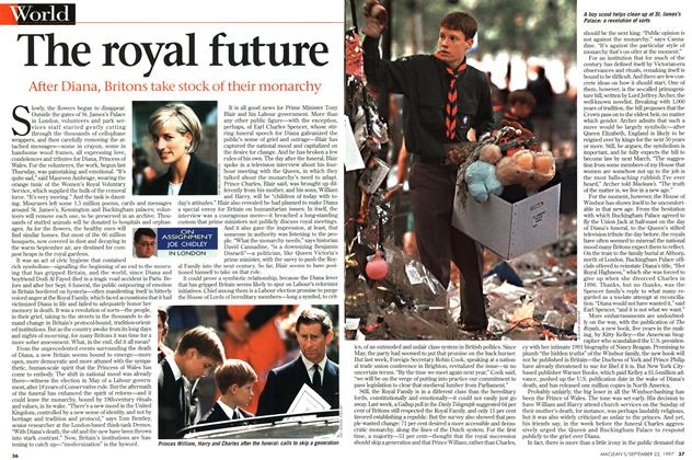 Article Preview: The royal future, September 1997   Maclean's