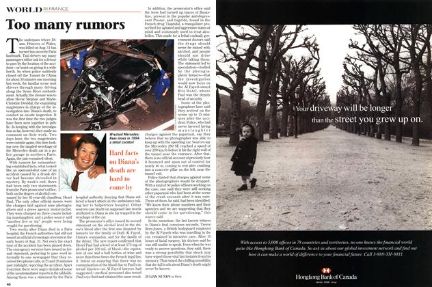 Article Preview: Too many rumors, September 1997 | Maclean's