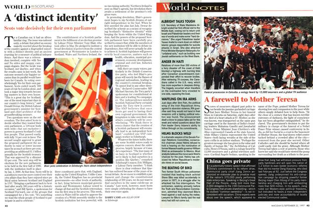 Article Preview: A 'distinct identity', September 1997 | Maclean's