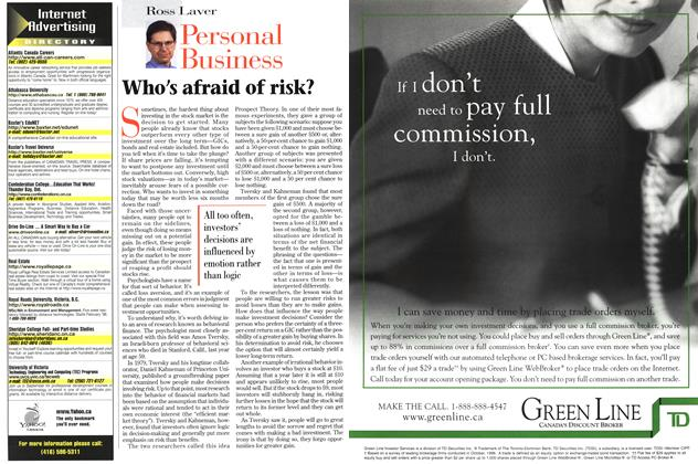 Article Preview: Personal Business, September 1997 | Maclean's