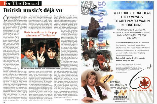 Article Preview: British music's déjà vu, September 1997 | Maclean's