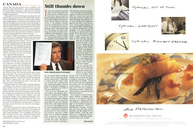 Article Preview: Still thumbs down, September 1997 | Maclean's