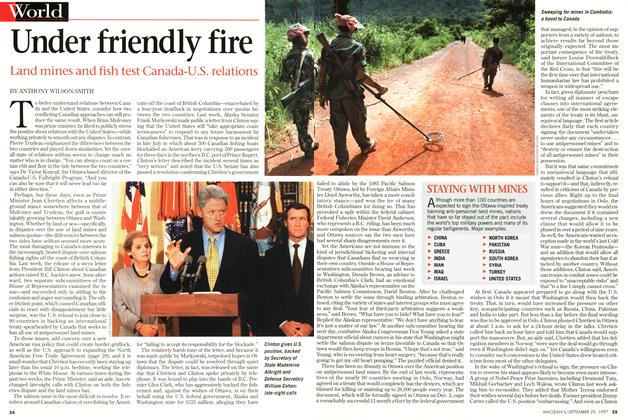 Article Preview: Under friendly fire, September 1997 | Maclean's