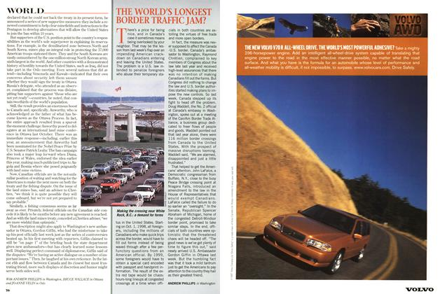 Article Preview: THE WORLD'S LONGEST BORDER TRAFFIC JAM?, September 1997 | Maclean's
