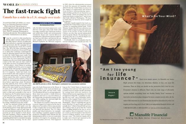 Article Preview: The fast-track fight, September 1997 | Maclean's