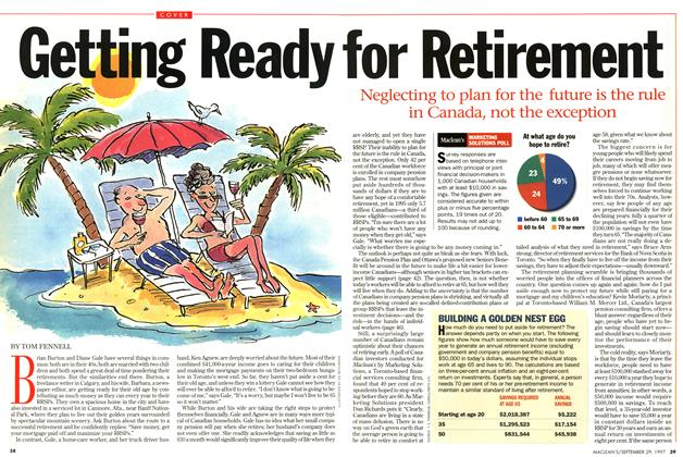 Article Preview: Getting Ready For Retirement, September 1997 | Maclean's