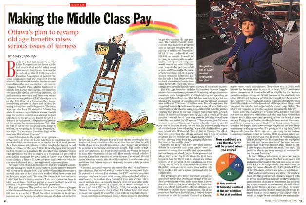 Article Preview: Making the Middle Class Pay, September 1997 | Maclean's