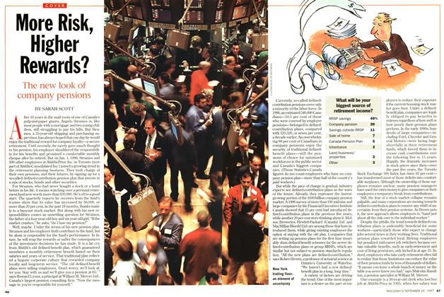 Article Preview: More Risk, Higher Rewards?, September 1997 | Maclean's