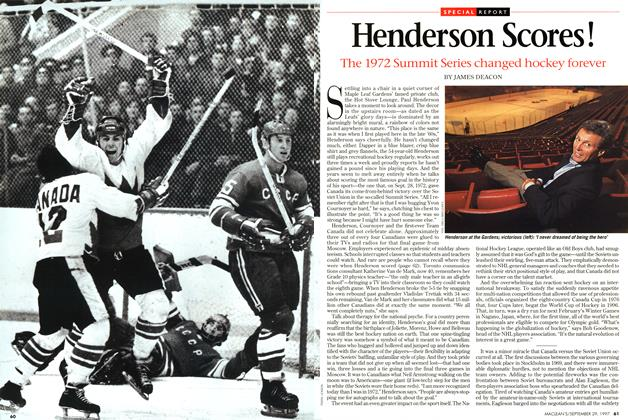 Article Preview: Henderson Scores!, September 1997 | Maclean's