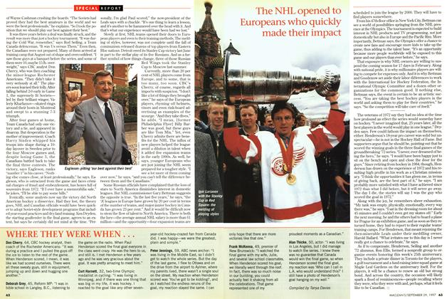 Article Preview: WHERE THEY WERE WHEN ..., September 1997 | Maclean's