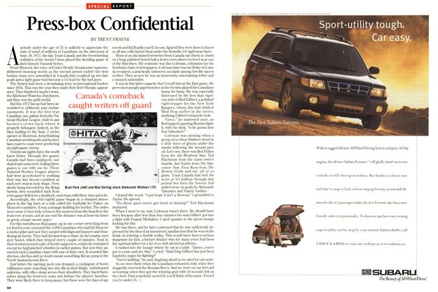 Article Preview: Press-box Confidential, September 1997 | Maclean's