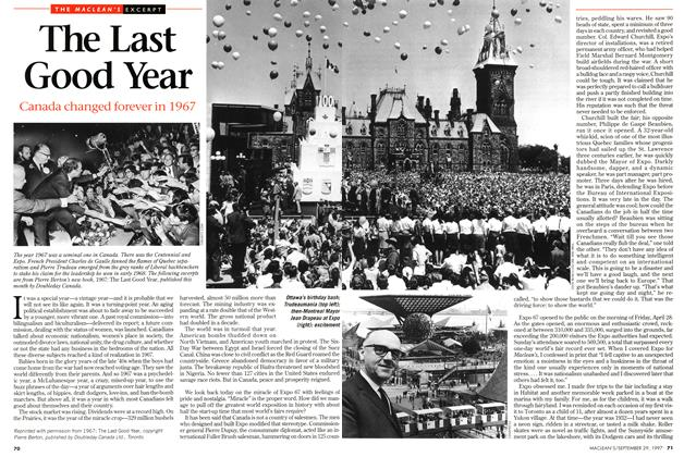 Article Preview: The Last Good Year, September 1997 | Maclean's