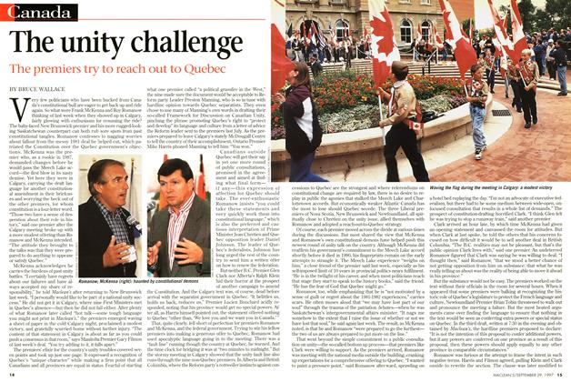 Article Preview: The unity challenge, September 1997 | Maclean's