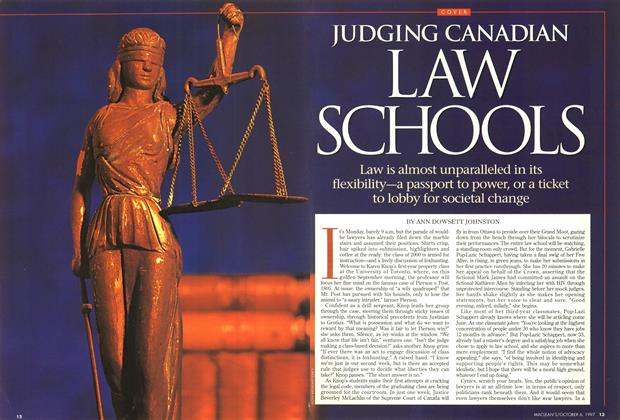 Article Preview: JUDGING CANADIAN LAW SCHOOLS, October 1997 | Maclean's