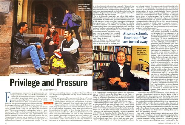 Article Preview: Privilege and Pressure, October 1997 | Maclean's