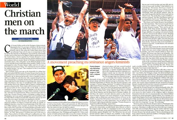 Article Preview: Christian men on the march, October 1997 | Maclean's