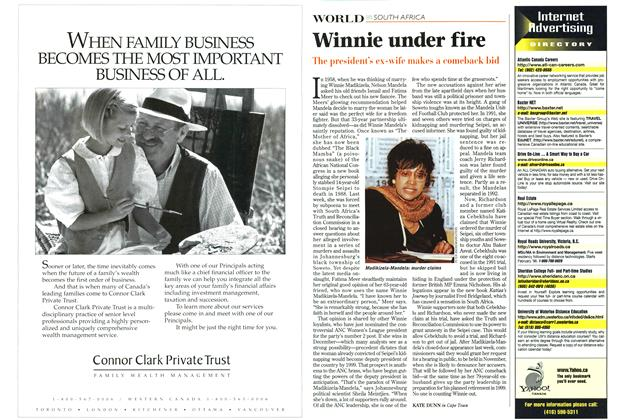 Article Preview: Winnie under fire, October 1997 | Maclean's
