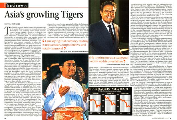 Article Preview: Asia's growling Tigers, October 1997 | Maclean's