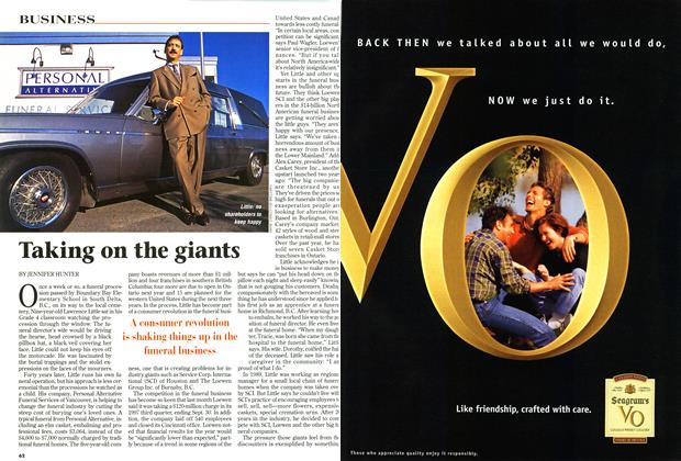 Article Preview: Taking on the giants, October 1997 | Maclean's