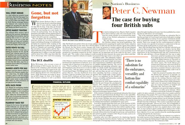 Article Preview: The case for buying four British subs, October 1997 | Maclean's