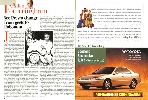 Article Preview: See Presto change from geek to Roboman ,, October 1997 | Maclean's