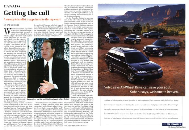 Article Preview: Getting the call, October 1997 | Maclean's