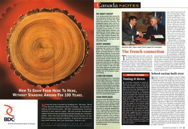 Article Preview: Canada NOTES, October 1997 | Maclean's