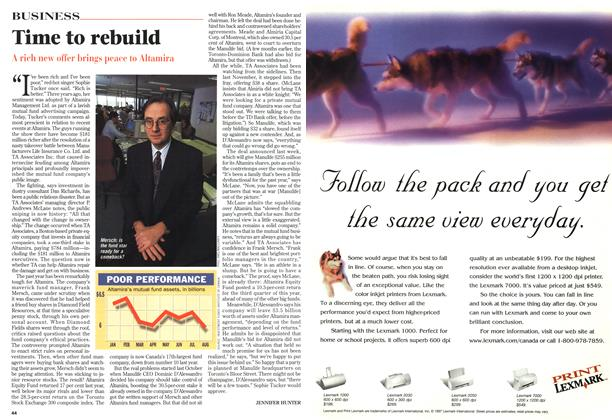 Article Preview: Time to rebuild, October 1997 | Maclean's