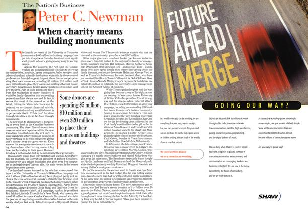 Article Preview: When charity means building monuments, October 1997 | Maclean's