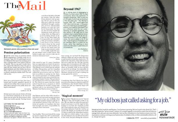 Article Preview: The Mail, October 1997 | Maclean's