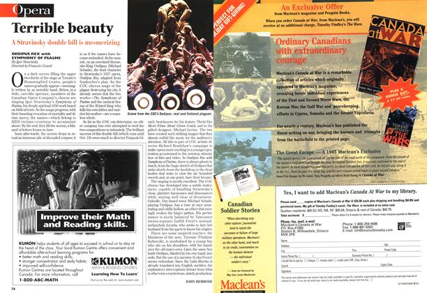 Article Preview: Terrible beauty, October 1997 | Maclean's