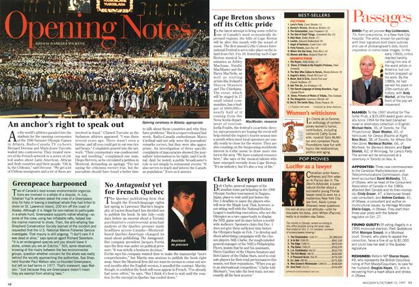 Article Preview: Opening Notes, October 1997 | Maclean's