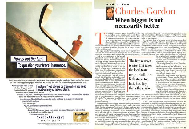Article Preview: When bigger is not necessarily better, October 1997 | Maclean's