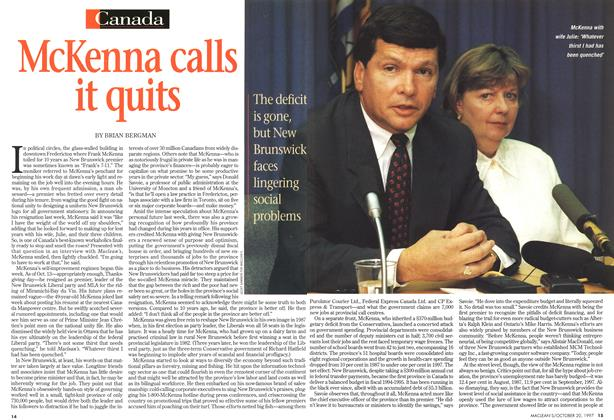 Article Preview: McKenna calls it quits, October 1997 | Maclean's