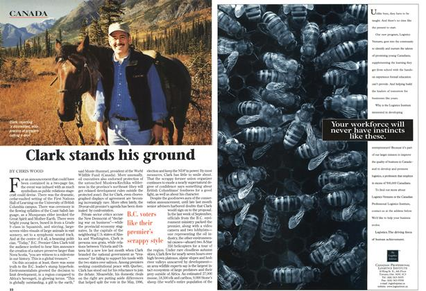 Article Preview: Clark stands his ground, October 1997 | Maclean's