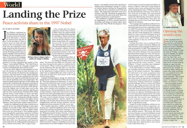 Article Preview: Landing the Prize, October 1997 | Maclean's
