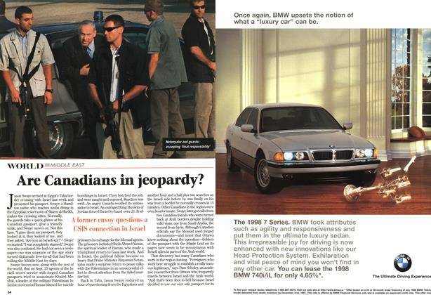 Article Preview: Are Canadians in jeopardy?, October 1997 | Maclean's