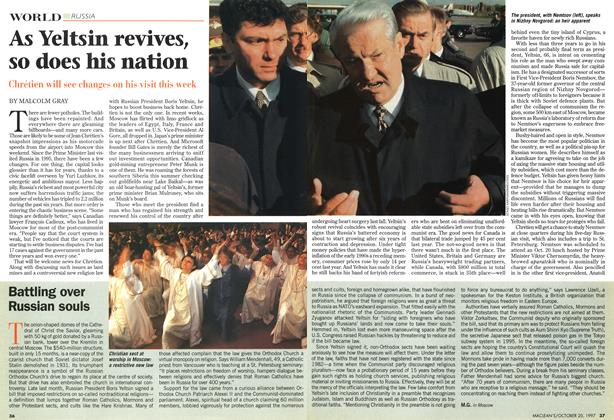 Article Preview: As Yeltsin revives, so does his nation, October 1997 | Maclean's